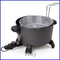 10 qt. Black kitchen kettle deep fryer-multi cooker presto 06009 steamer new