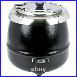 (2-PACK) Avantco 11 Qt Black Food Soup Kettle Pot Warmer Commercial Restaurant