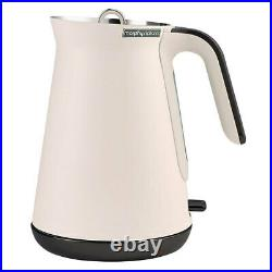2pc Morphy Richards Aspect Electric 1.5L 2200W Kettle/4 Slice 1880W Toaster Nude