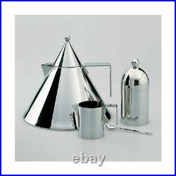 Alessi Il Conico 90017 Kitchen Water Kettle Handle Stainless Steel 7 Cups Liters