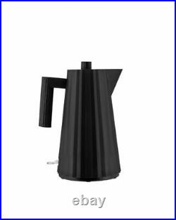Alessi Plisse Electric Kettle Black UK Plug