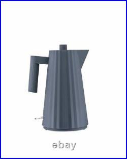 Alessi Plisse Electric Kettle Grey UK Plug