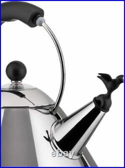 Alessi Shpd Kettle Bird Shaped Whistle M. B, Black