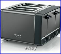 BOSCH Anthracite Kettle & 4 Slice Toaster Bosch Breakfast Kitchen Set Stylish UK