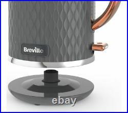 BREVILLE Curve VKT118 Jug Kettle Grey & Rose Gold