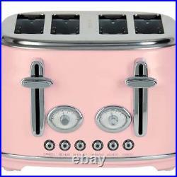 Beautiful Pink Kettle & 4 Slice Toaster Matching Kitchen Appliance SET