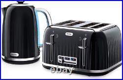 Breville Impressions Kettle And Toaster Set Black Kettle & 4 Slice Toaster Black