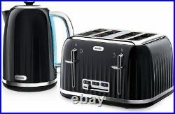 Breville Impressions Kettle And Toaster Set Black Kettle & 4 Slice Toaster NEW
