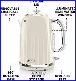 Breville Impressions Kettle And Toaster Set Cream Kettle & 4 Slice Toaster