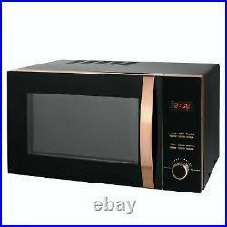 Brooklyn Black & Rose Gold Microwave, Kettle & Toaster Set