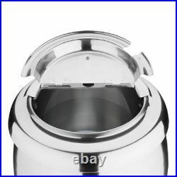 Buffalo Soup Kettle in Silver Uses Bain Marie Style Wet Heat 10 L