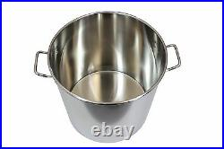 CONCORD 60 QT Stainless Steel Stockpot Brew Kettle with Lid. Heavy Cookware