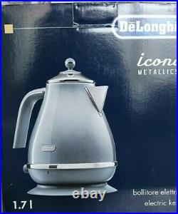 DELONGHI Icona Metallics KBOT3001. AZ Electric Jug Kettle 1.7L Blue