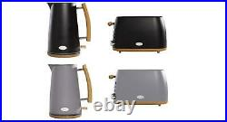 Daewoo Skandik Collection Kettle Toaster Set Or Single Wood Effect