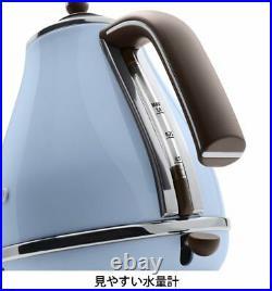 Delonghi Electric Kettle 1.0L ICONA Vintage Collection KBOV1200J-AZ Azzurro Blue