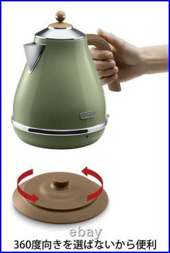 Delonghi Electric kettle 1L ICONA Vintage Collection KBOV1200J-GR FedEx