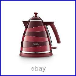 Delonghi KBAC3001. R Avvolta Kettle Red & Burgundy