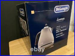 Delonghi KBOV 1200 J-BG Icona Vintage Electric Kettle 1L 100V Free Shipping JP