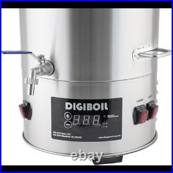 DigiBoil Electric Kettle 35L/9.25G 220V Dual Temp Stamped Markers Homebrew