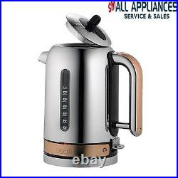 Dualit Classic Copper Polished Stainless Kettle And Toaster Combo In Heidelberg