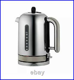 Dualit Classic Kettle CVJK13 1.7L Cordless Electric Kettle Stainless Steel 3000W