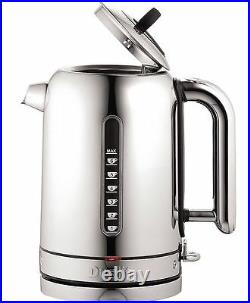Dualit Classic Kettle Polished Stainless Steel 72796 Black Trim NEW P