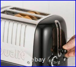 Dualit Lite 1.5l Jug Kettle 72010 + 2 Slice Toaster 26205 Black & Chrome New