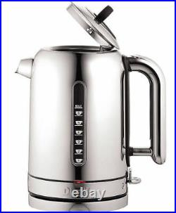 Dualit Polished Stainless Steel 4 Slot Vario Toaster & Classic 1.7L Jug Kettle