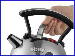 Dualit Stainless Steel & Black 2L Cordless Dome Kettle