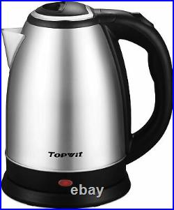 Electric Kettle Stainless Steel Coffee Tea Hot Water Maker 2L Kitchen Boiling