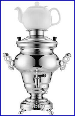 Electric Samovar Russian Persian Turkish Tea Maker Water Kettle Stainless Steel