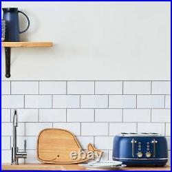 Gorgeous Matching Kettle & Toaster 4 Slice Set Kitchen Appliance Blue Navy