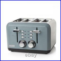 Haden Perth 1.7L Kettle & 4 Slice Toaster Set Kitchen Appliances Grey
