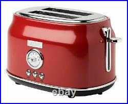 Haden Stainless Steel Retro Toaster & 1.7 Liter Stainless Steel Electric Kettle