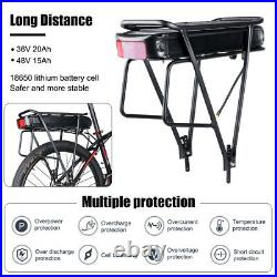 Hailong Lithium Battery 52V/48V/36V For 250-1500W Electric Bike with Charger