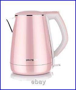 Joyoung Joyoung K15-F Princess Series 1.5 Liters Stainless Electric Kettle, Pink