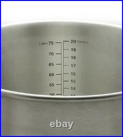 Kegco 20 Gallon Brew Kettle with Thermometer and 3-Piece Ball Valve