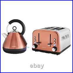 Kettle And Toaster 4 Slice Electric Copper Kitchen Breakfast Set Quality Kitchen