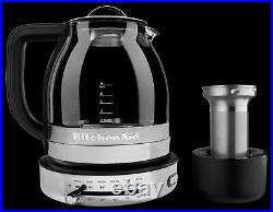 KitchenAid 605516-KEK1322SS Electric Glass Tea Kettle, 1.5 L, Stainless Steel