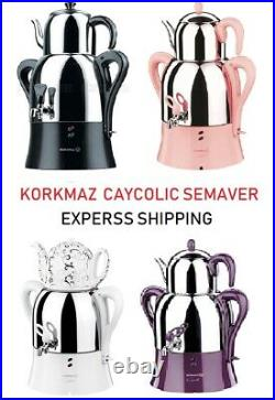 Korkmaz Semaver Turkish Electric Caykolik A341 Caymatik Samovar Tea Maker Kettle