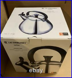 Le Creuset Kone Stove-Top Kettle with Whistle, Stainless Steel-New
