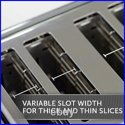Microwave Kettle & 4 Slice Toaster Matching Grey/Black Set Breville & VYTRONIX