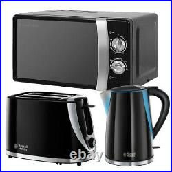 Microwave Kettle Toaster Set Cheap Sale Deal Buy Russell Hobbs Black RHMM701B