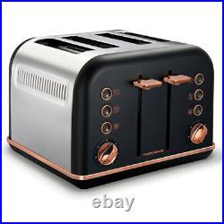 Morphy Richards 1.5L Pyramid Kettle/4 Slice Toaster/6.5L Slow Cooker Rose Gold