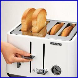 Morphy Richards Aspect White Chrome Base 4 Slice Toaster with 1.5L Cordless Kettle