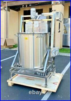 NEW 360L Steam Kettle Mixer Hand Crank Tilt Natural Gas and Electric Stirrer
