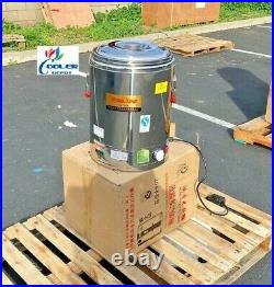 NEW 40L Commercial Electric Soup Stew Kettle Pot Warmer Restaurant Buffet 220V