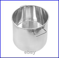NEW 60 QT Quart Polished Stainless Steel Stock Pot Brewing Kettle Large with Lid