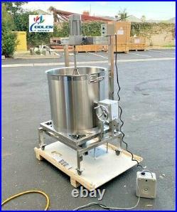 NEW 80L Steam Kettle Mixer Hand Crank Tilt Natural Gas and Electric Stirrer