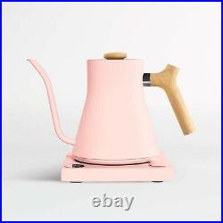 NEW Fellow Stagg EKG Electric Kettle Warm Pink with Maple Wood Handle